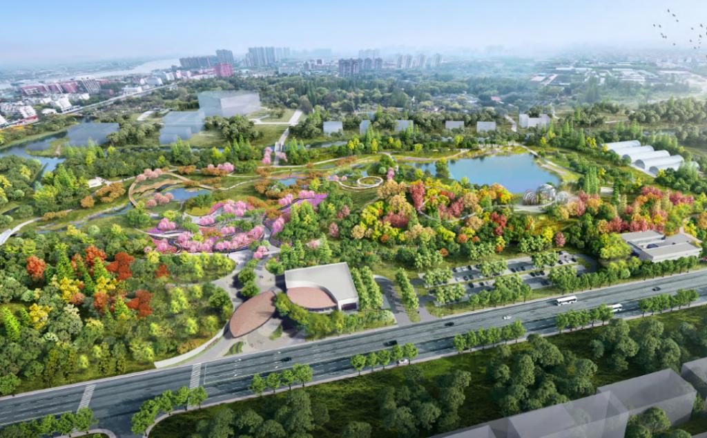 上海植物园北区设计鸟瞰图(上海植物园供图)